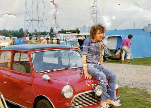 1964 Mini, Camping in Amsterdam. by Pinarellopete