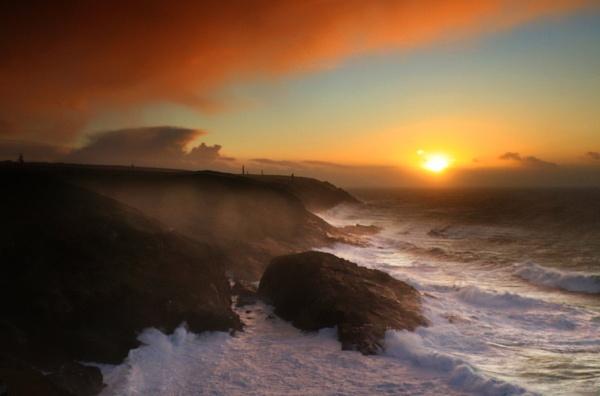 Stormy Sunset by natureslight