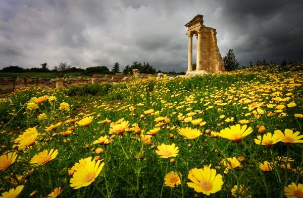 Temple of Apollo Hylates near Kourion Cyprus. by natureslight