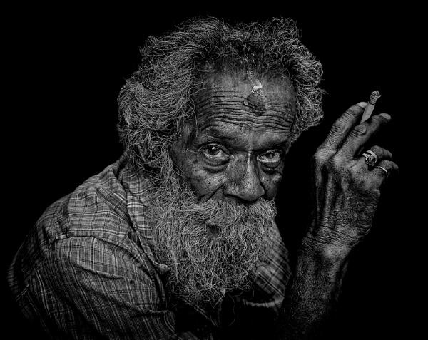 old man of Kathmandu by sawsengee