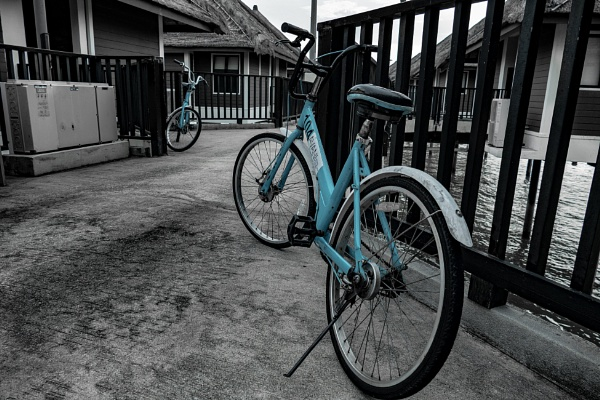 Blue bicycles by manicam