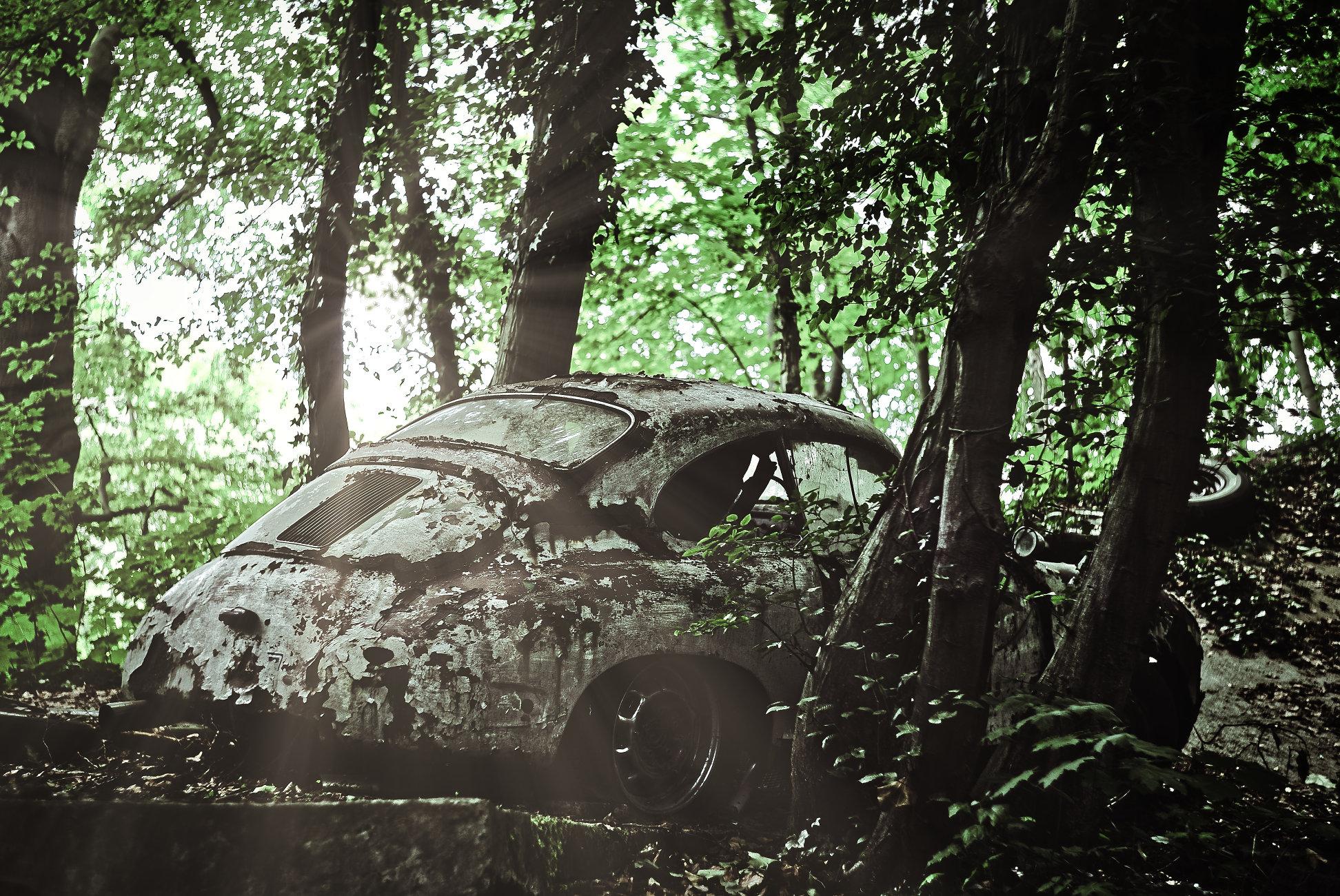 Abandonded Porsche...