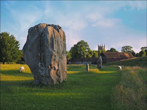 The Avebury stones one evening. by niknakpaddywhack