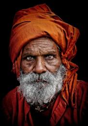 man in saffron