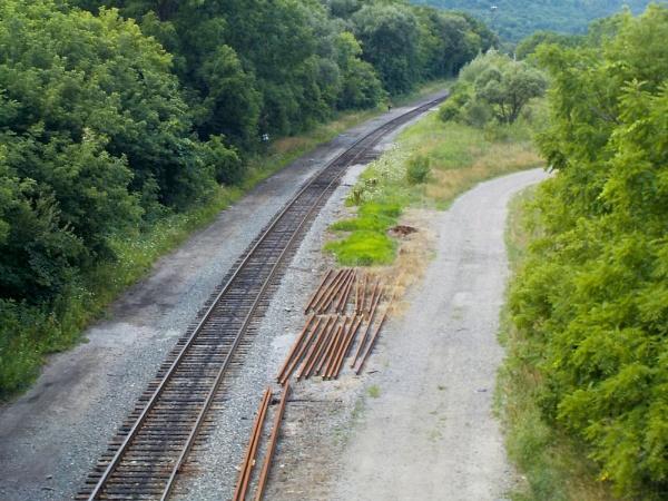 RAILWAY TRACKS in WEST HAMILTON by TimothyDMorton