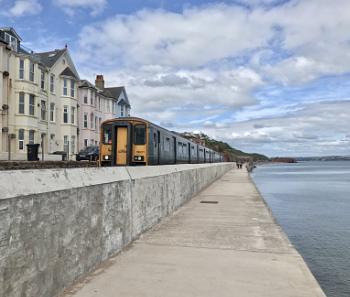 Train by the sea