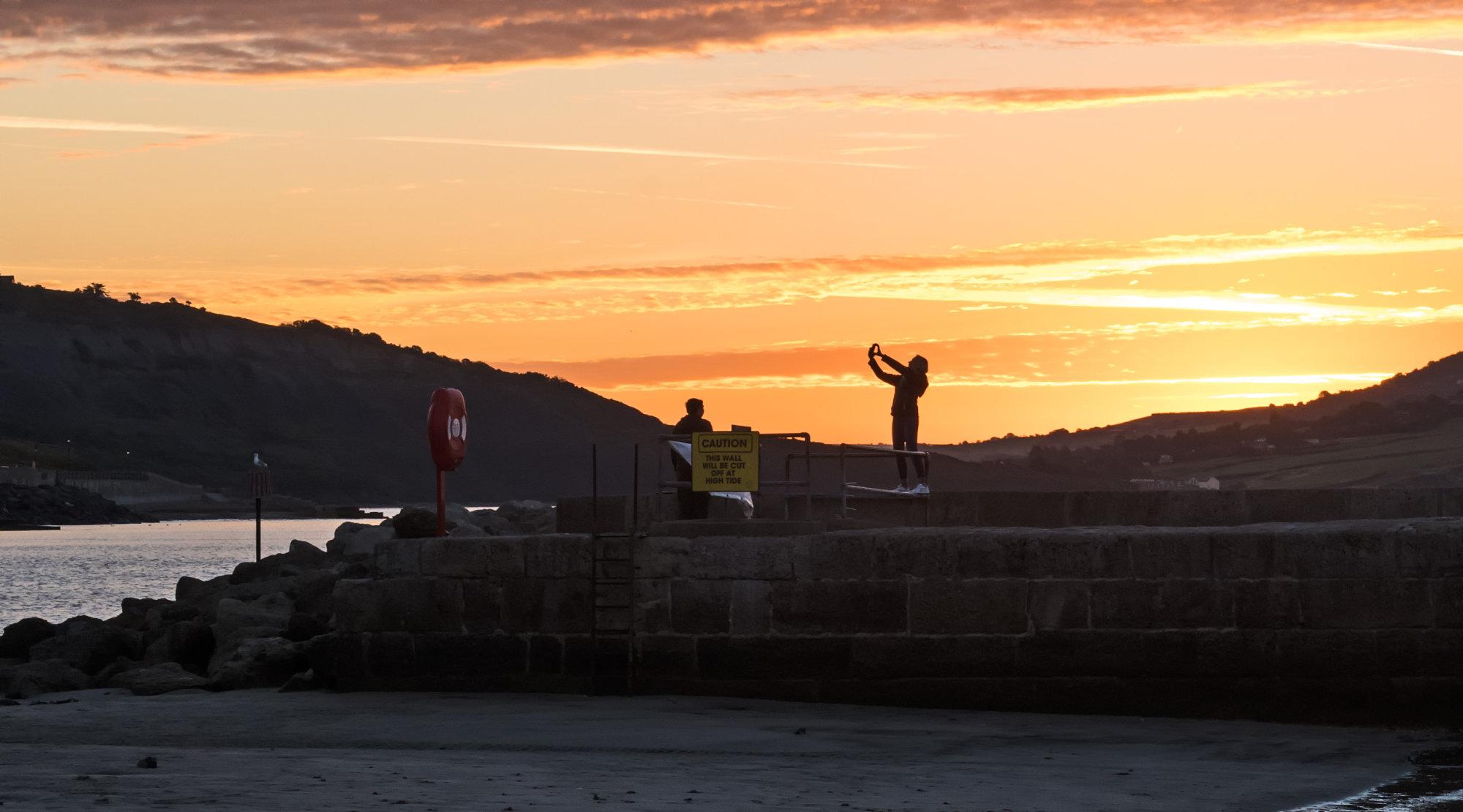 Sunrise Selfie - Harbour Wall, Lyme Regis