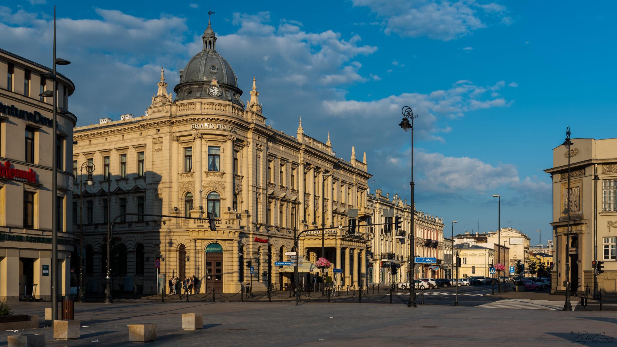 """Lublinianka"" Grand Hotel at the sunrise"