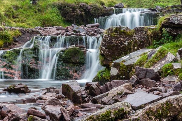 The Falls on the Blaen Taf Fawr by DADREW