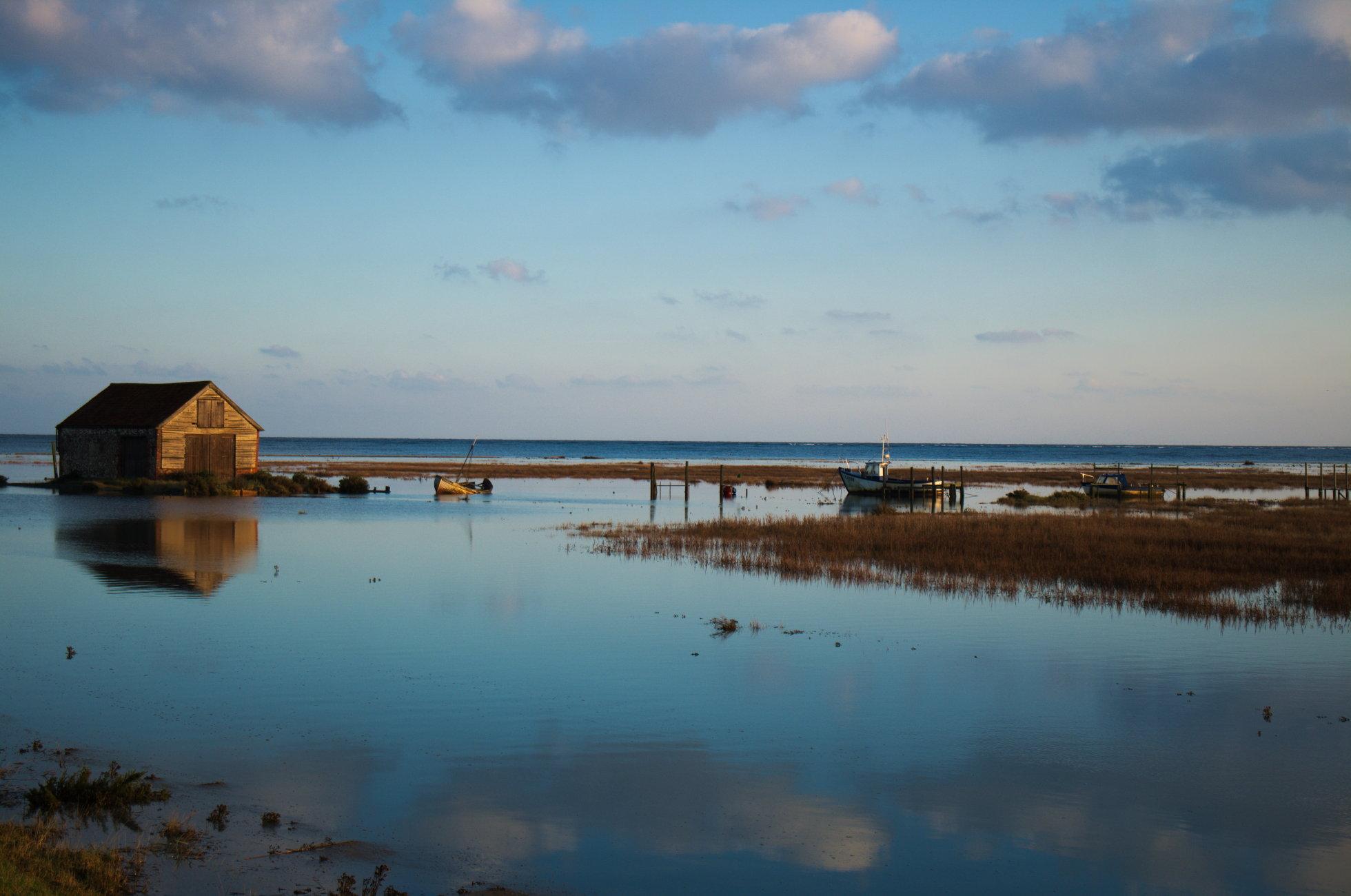 coal shed Thornham spring tide