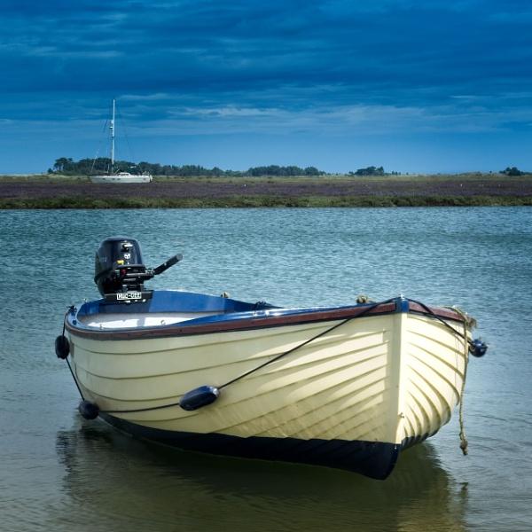 Boat in Blue by Dwaller