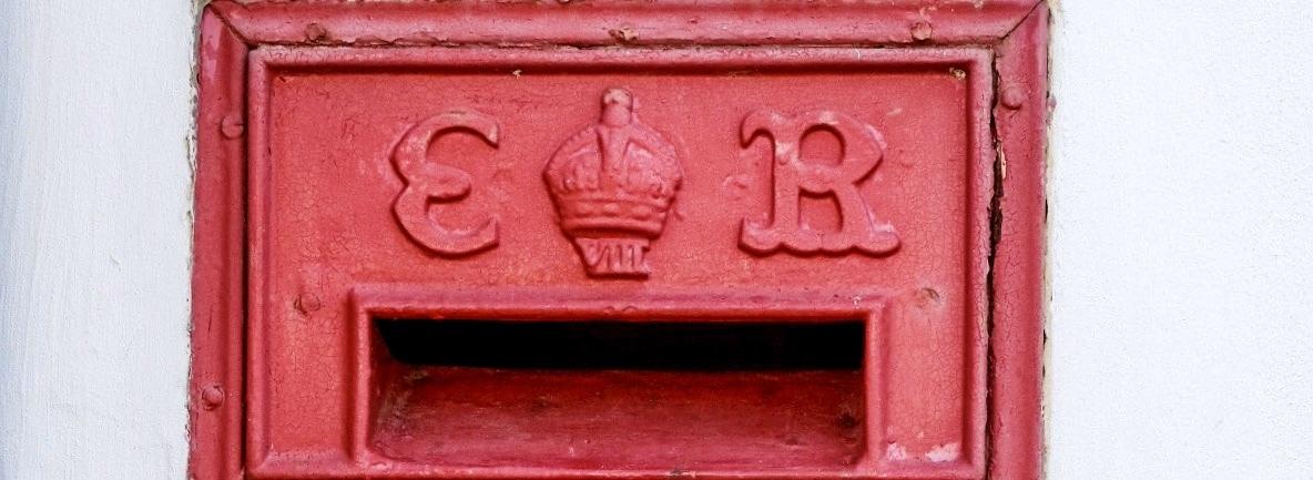 ER VIII post box cypher.