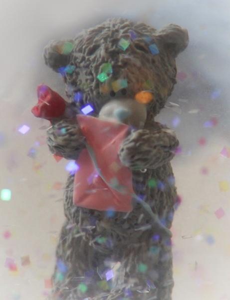 Teddy in snow-globe by Eckyboy