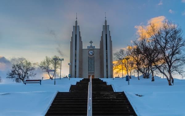The Church of Akureyri by JohnDyer