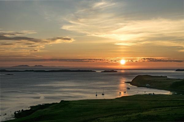 Waternish sunset by dawnstorr