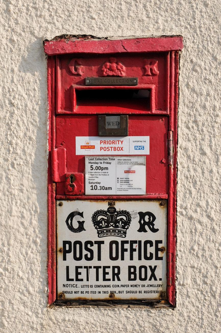 GR post box – George V