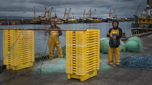 Preparing the nets. by Gavin_Duxbury