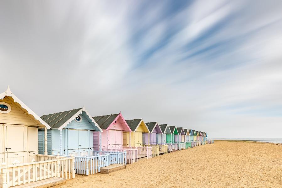 Beach huts....