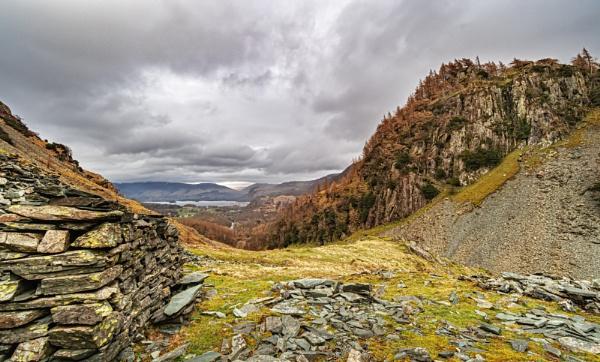 Castle Crag Slate Buildings by DTM