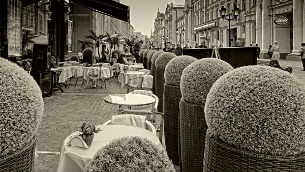street cafe by leo_nid
