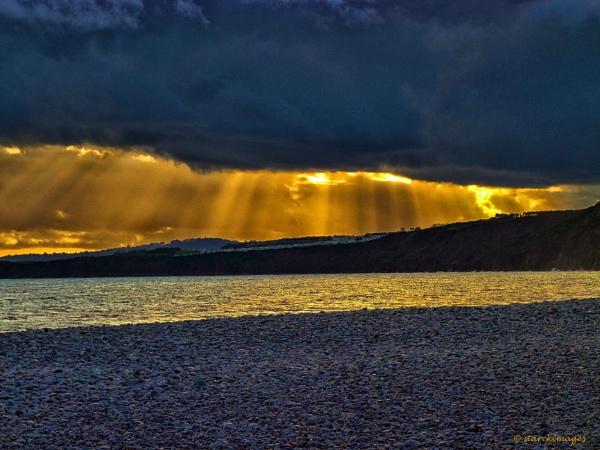 Budleigh Salterton Sunbeams by starckimages