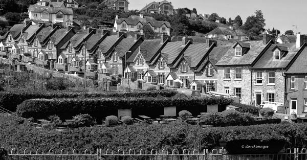 Houses at Beer, Devon by starckimages