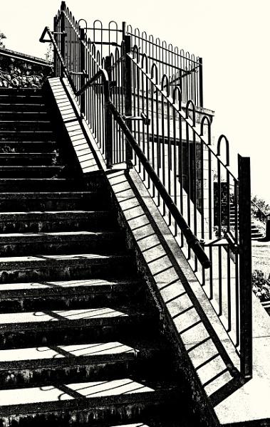 Steps at Beer, Devon by starckimages