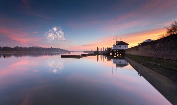 Fireworks on the river Deben by JRMGallery