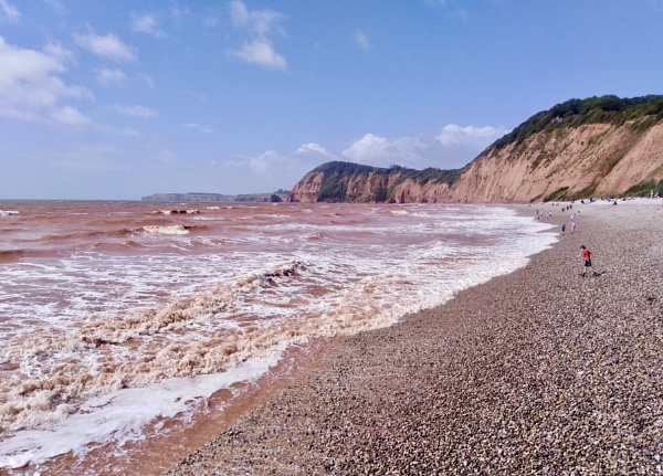 Red Sea at Sidmouth by dixy