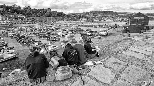 Five Friends - Lyme Regis Harbour by starckimages