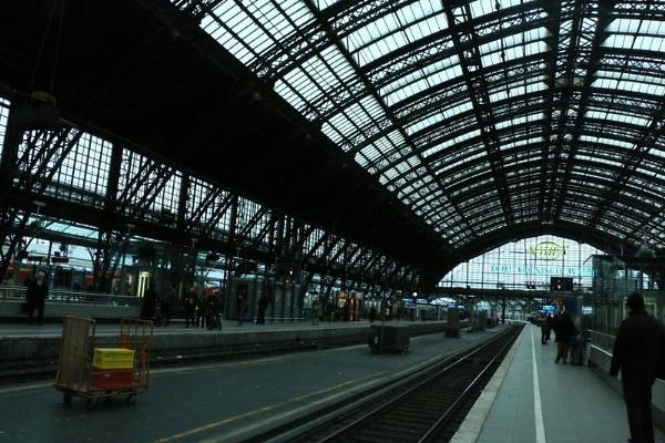 Railway station Koln Germany by gunner44