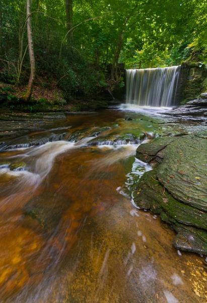 Waterfall, Plas Power Woods. by Brenty