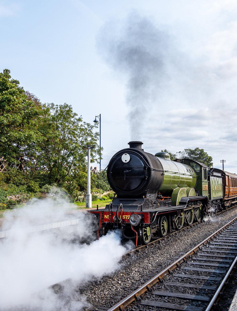 Train leaving Sheringham station