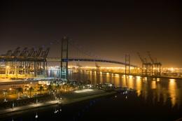 The Vincent Thomas Bridge, Port of Los Angeles