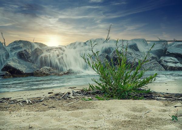 Rosewood Beach Sunset by Fbenjamin