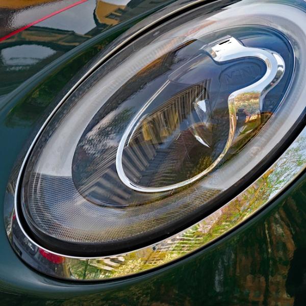 Sports Car Headlight as Funhouse Mirror by BobbyMS