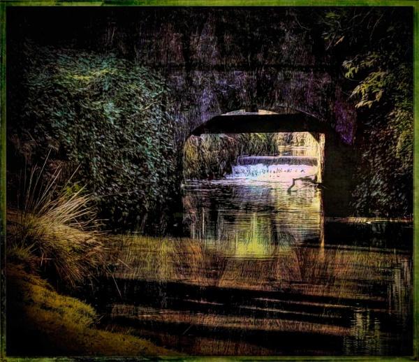 Flowing Under the Bridge by adagio