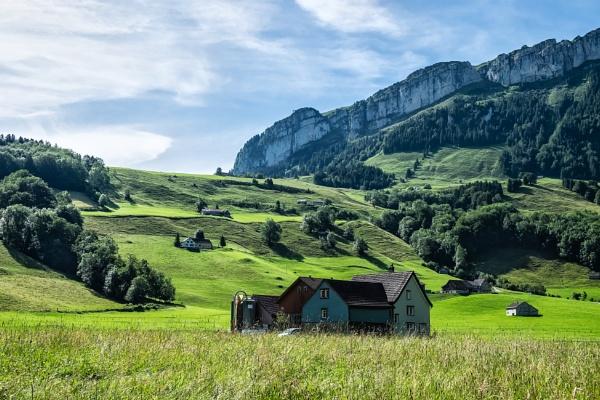 A Farmhouse in Switzerland by Xandru