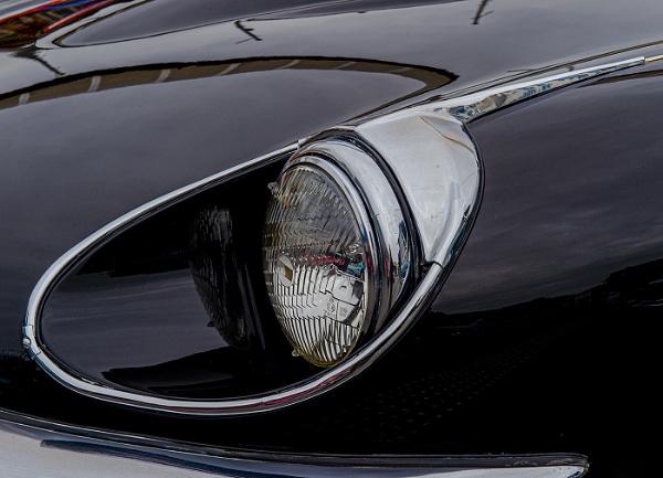 E-Type Jaguar Roadster headlight by ugly