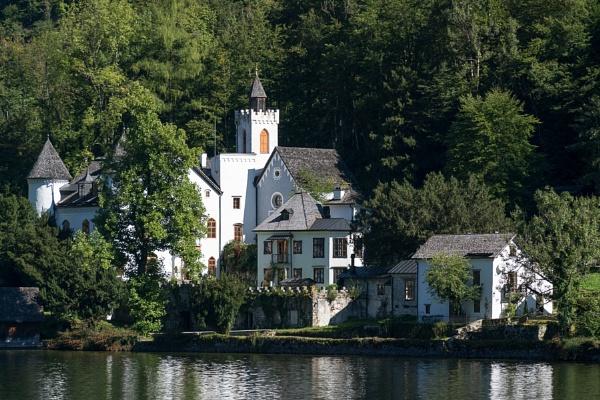 Castle Schloss on the Shoreline of Lake Hallstatt by Phil_Bird