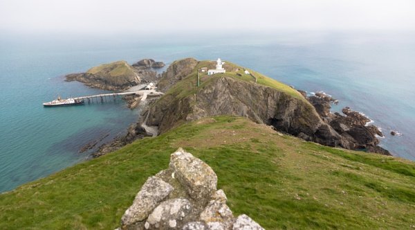 Misty morning panorama on Lundy by Trekmaster01