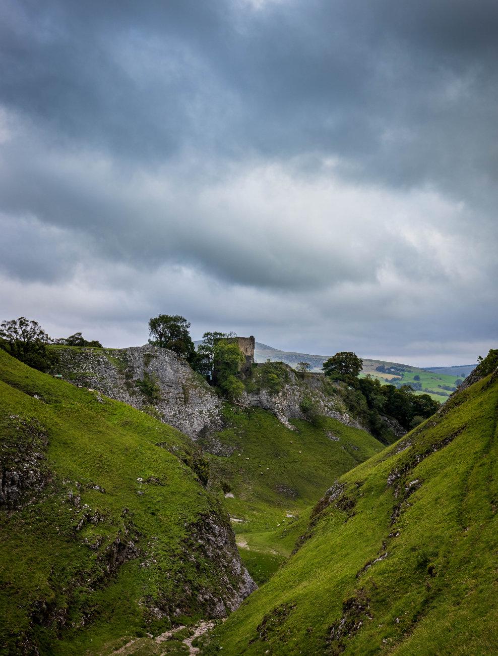 Peveril Castle. Castleton, Derbyshire.