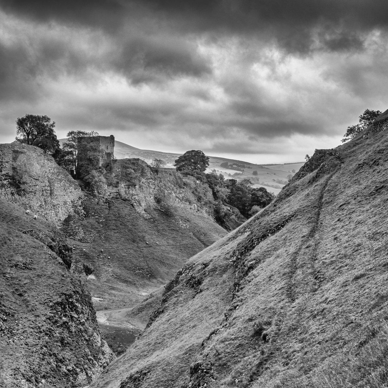 'Peveril Castle'..........Monochrome.