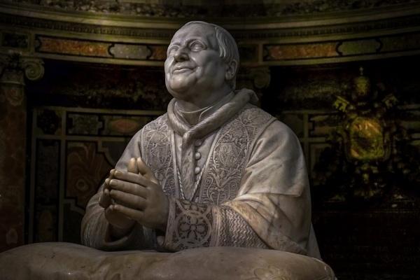 Pope Pius IX  (Cardinal Mastai Ferretti ) in prayer by Ignazio Jacometti, (c. 1880). by Edcat55