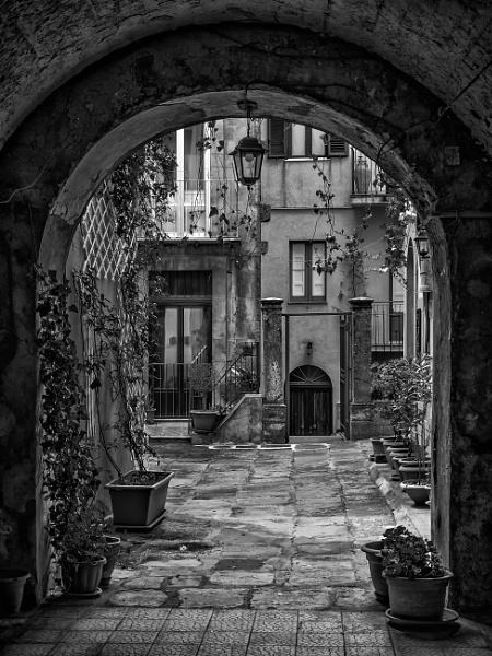 A Courtyard in Enna by Xandru