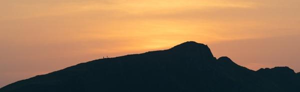 Sunset Hikers by jasonrwl