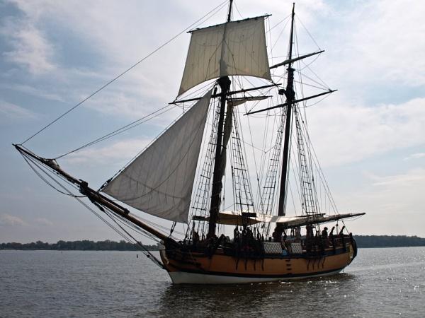Top mast schooner by handlerstudio