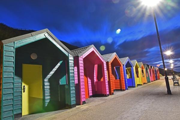 Saltburn Beach Huts by pjohnson68