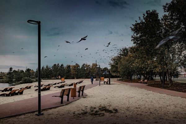 Autumn beach by ViVla
