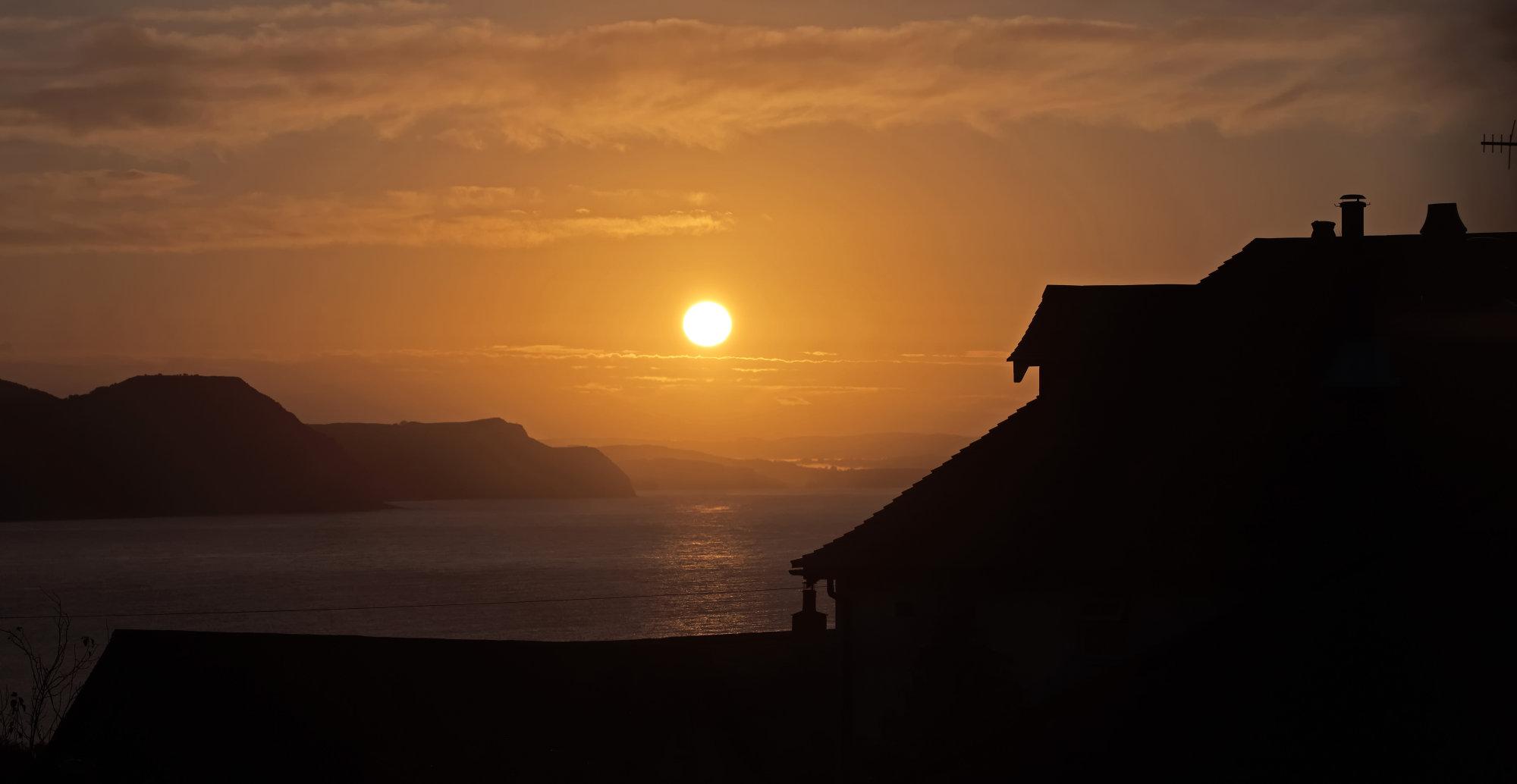 Sun Rising Over Jurassic Coast